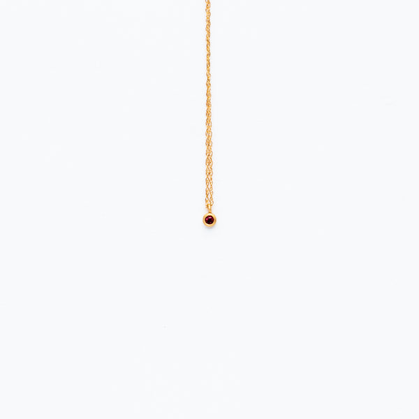 Carla Caruso - Sparkle dainty necklace with ruby