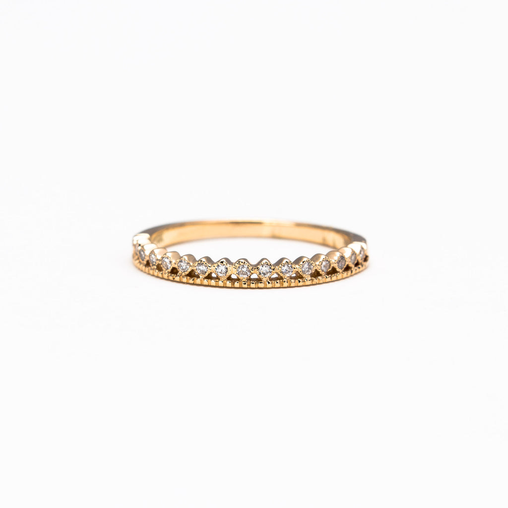 NFC - Double dot band ring