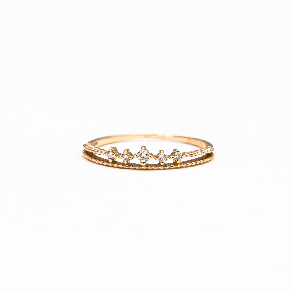 NFC - Dainty crown ring