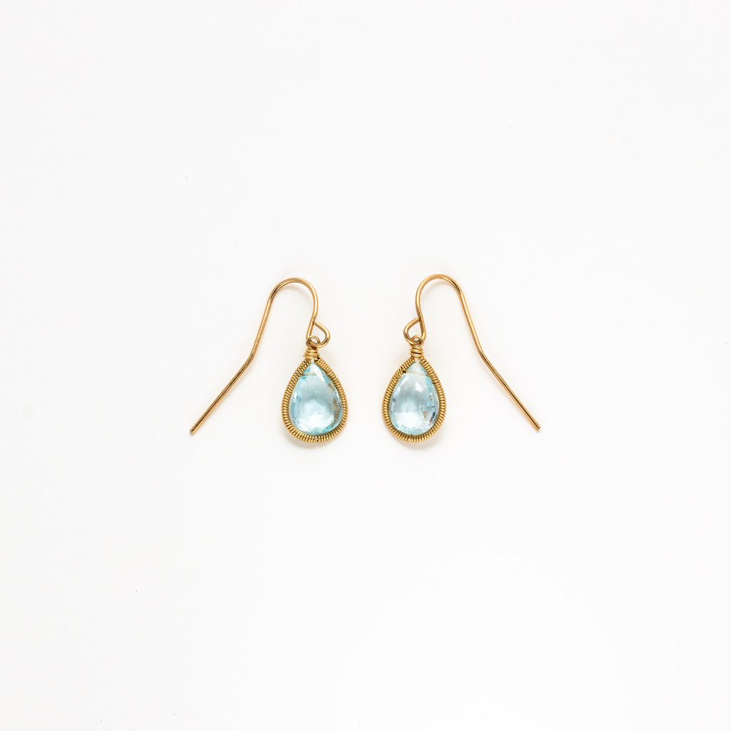 LINA - Blue topaz drop earrings