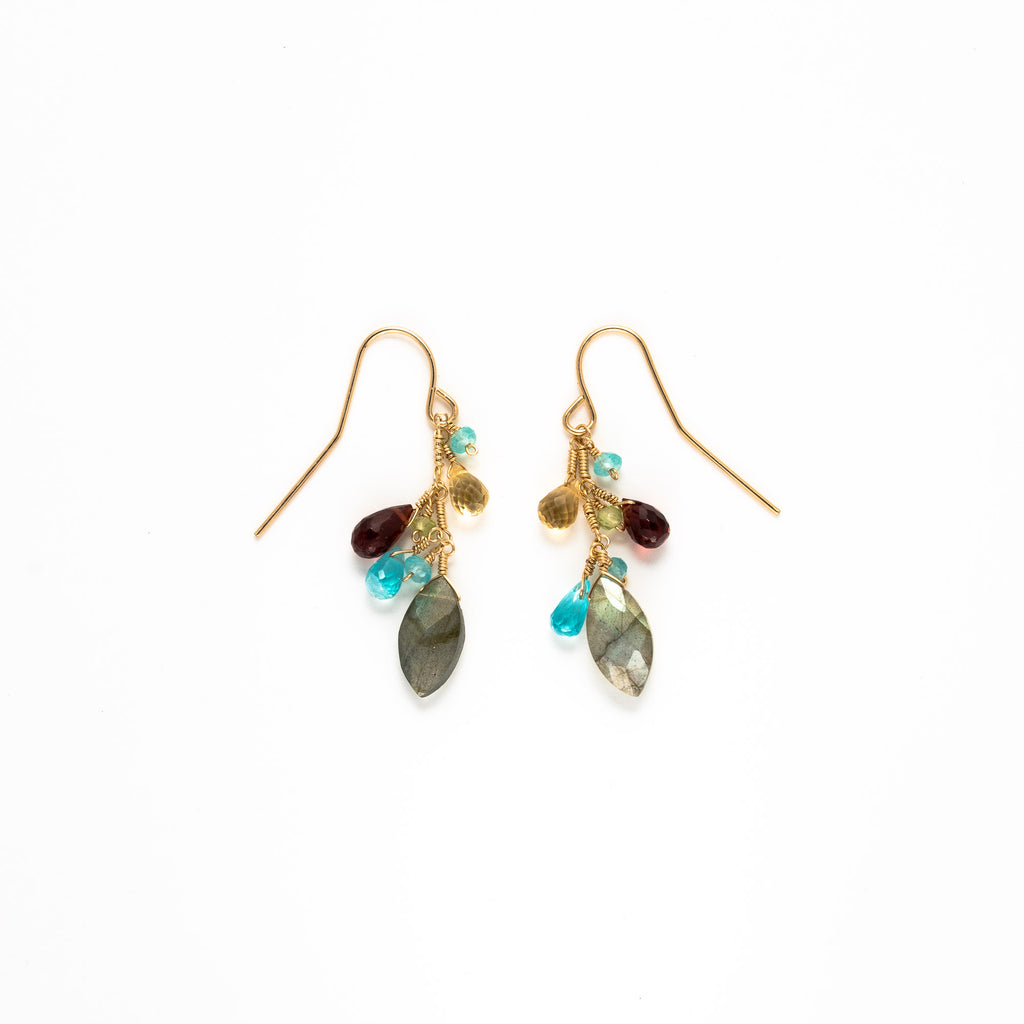 LINA - Labradorite mix drop earrings