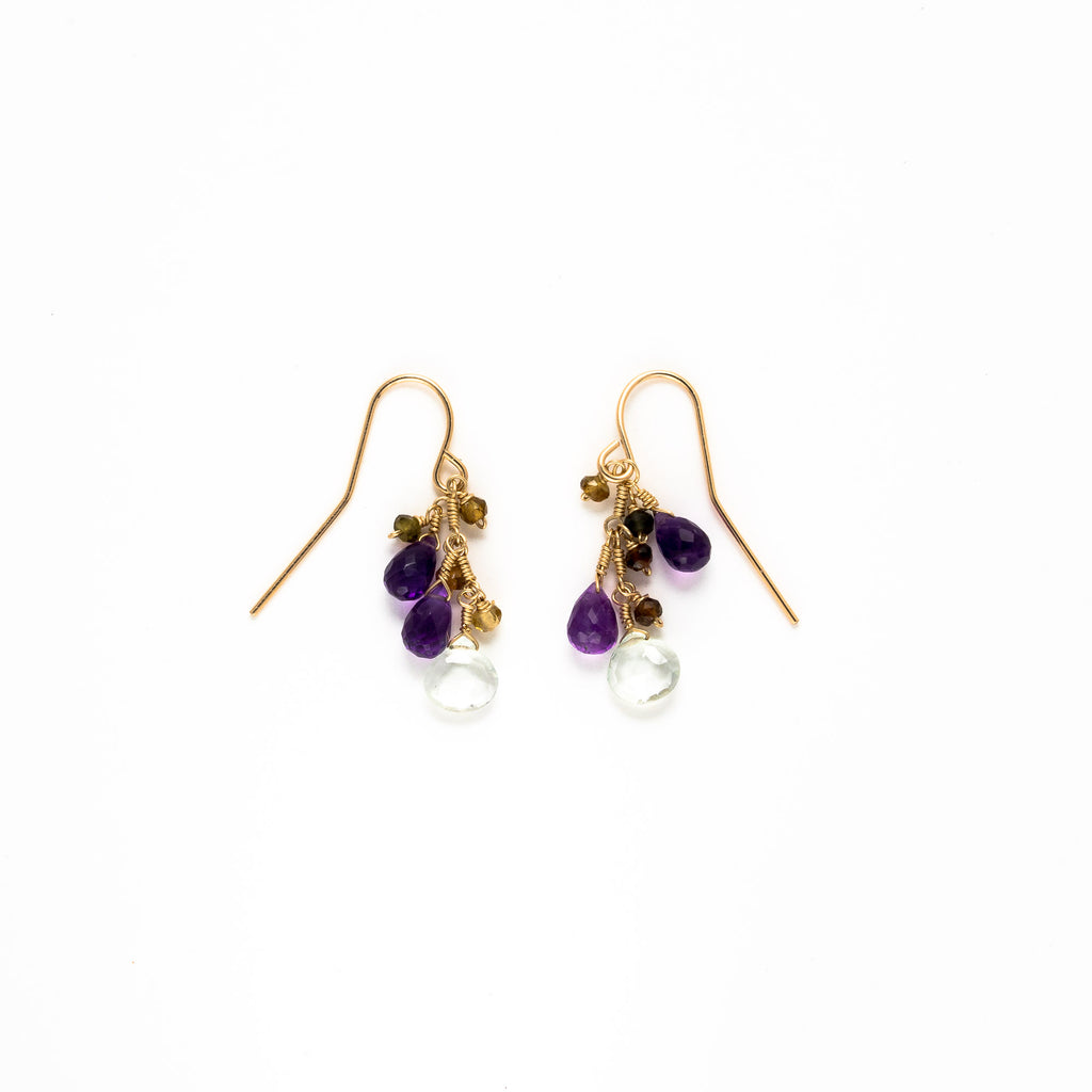 LINA - Amethyst drop earrings