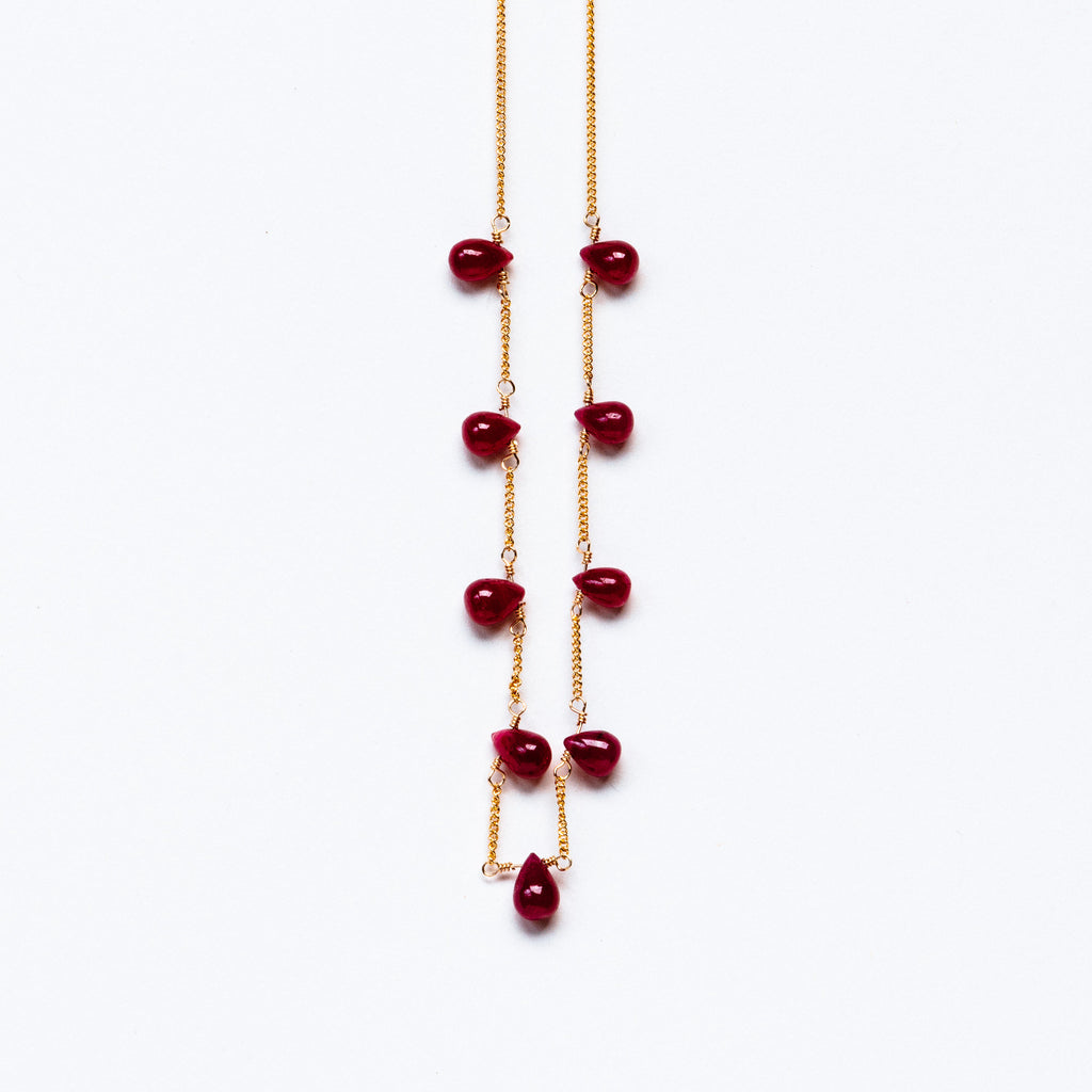 LINA - Ruby broilette necklace