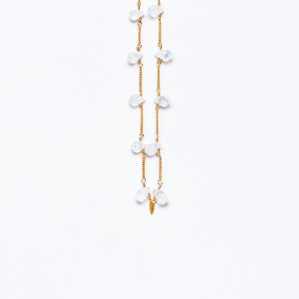 LINA - Moonstone broilette necklace