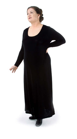 Slinky Full Length Long Sleeve Dress