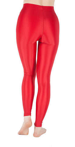 Basic Red Spandex Leggings