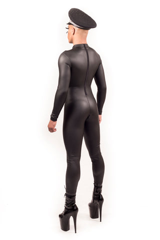 Leather Look Men's PVC Catsuit