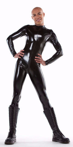 Men's Latex Look PVC Catsuit - vinyl catsuit