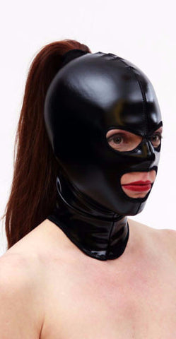 PVC Hood with Eye and Mouth Holes