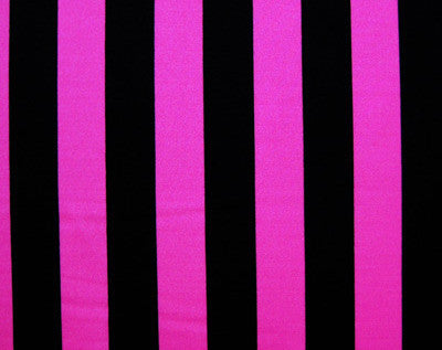 Bold stripes!  Our black and pink striped spandex.