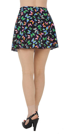 Butterfly Spandex Skirt