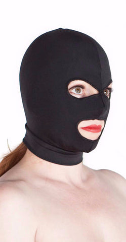 Premium made in USA spandex eye and mouth hole hood