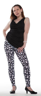 Spandex Leggings With Skulls