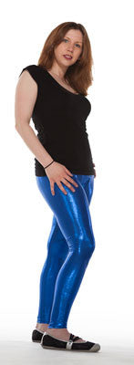 Oh Yes They Shine! Blue Sparkle Spandex Leggings