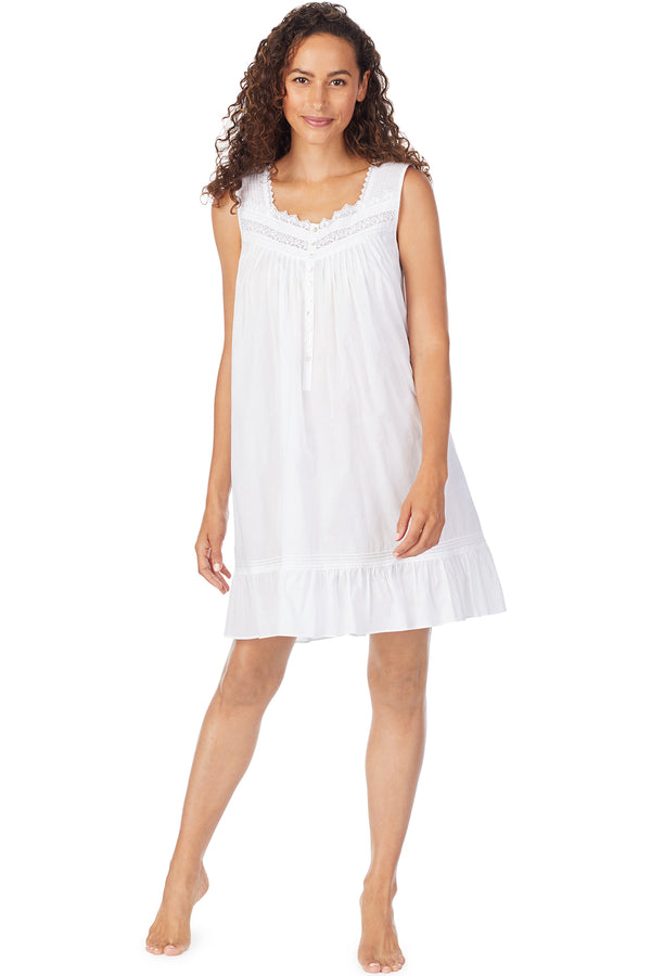 White Dahlia Sleeveless Chemise