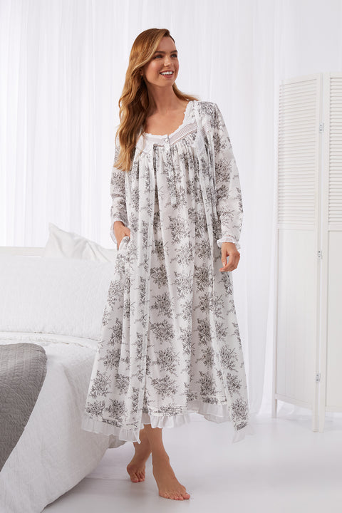 Grey Toile Nightgown