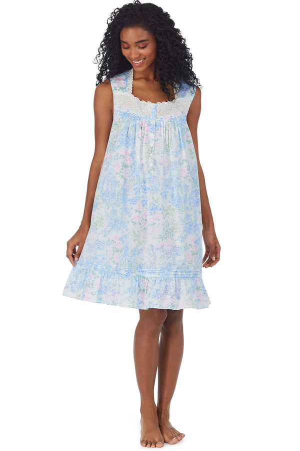 Watercolor Dream Short Gown - Plus