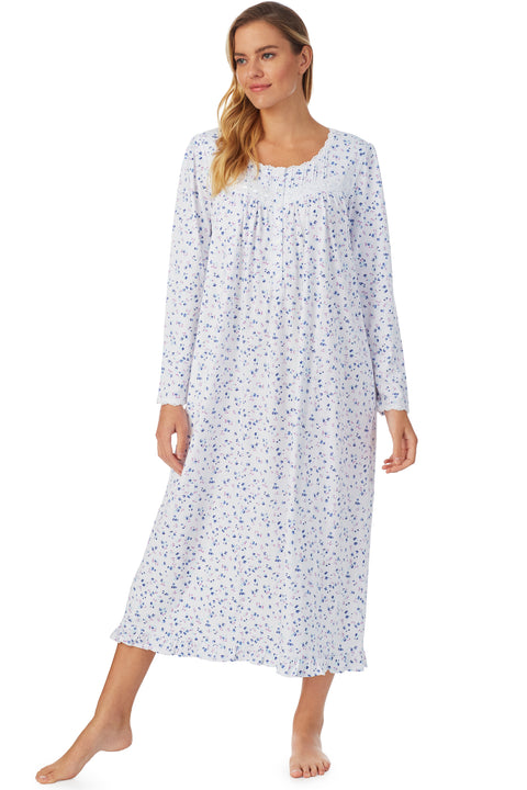 English Bouquet Long Sleeve Nightgown