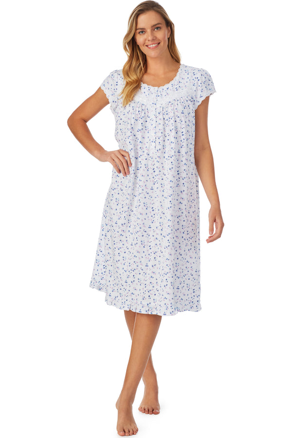 English Bouquet Waltz Cap Sleeve Nightgown