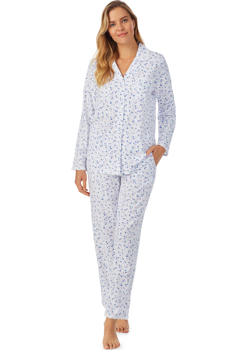 English Bouquet Notch Pajama Set