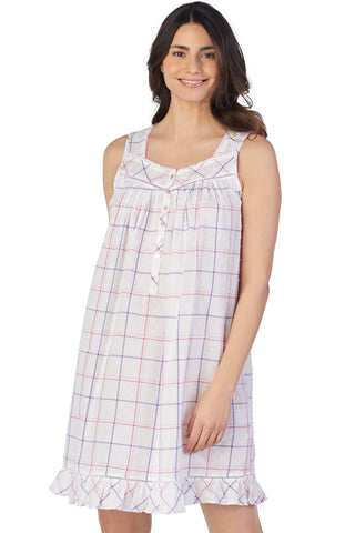 Swiss Dot Plaid Chemise