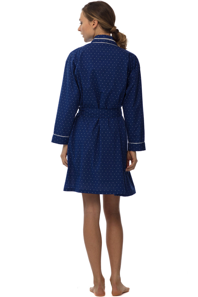 Maritime Dot Wrap Robe
