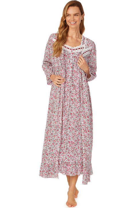 Berry Jubilee Button Front Robe