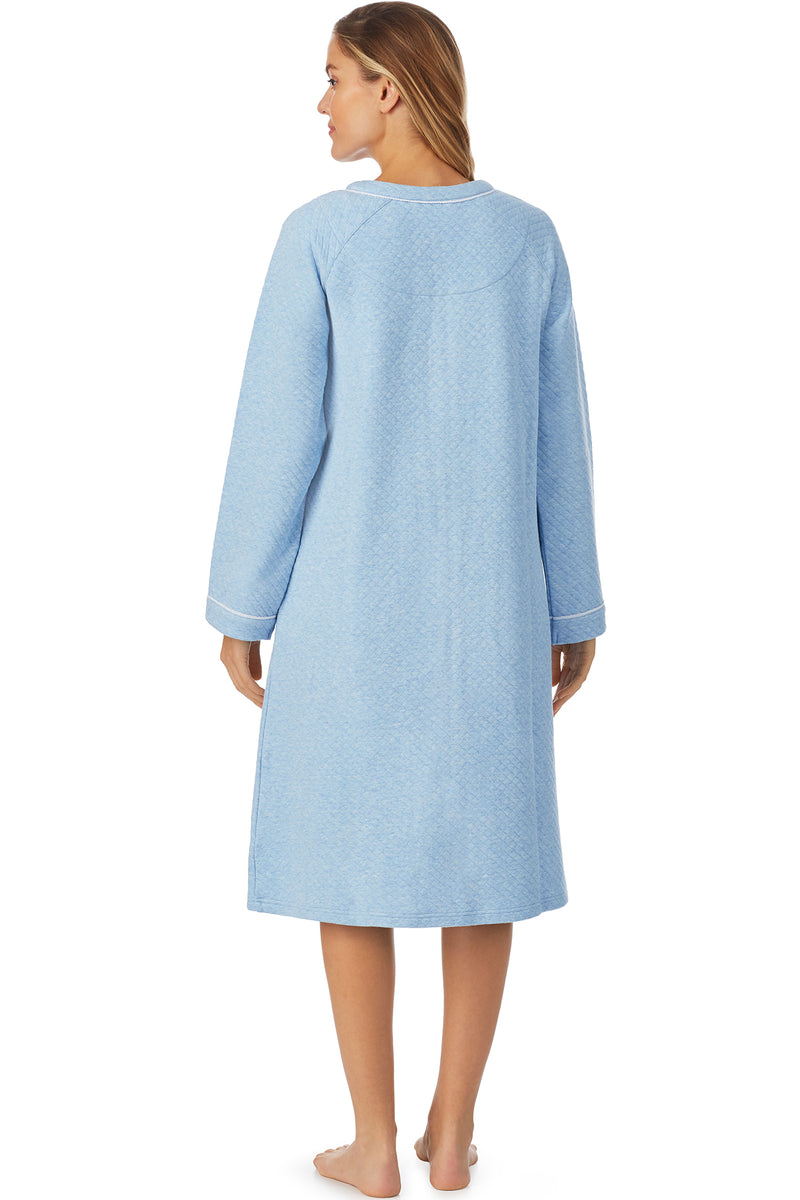 Blue Heather Zip Robe