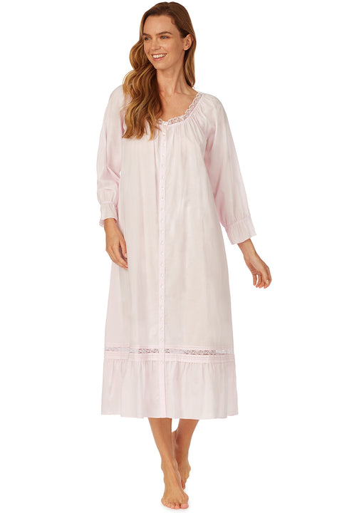 Blushing Petal Ruffle Nightgown/ Robe