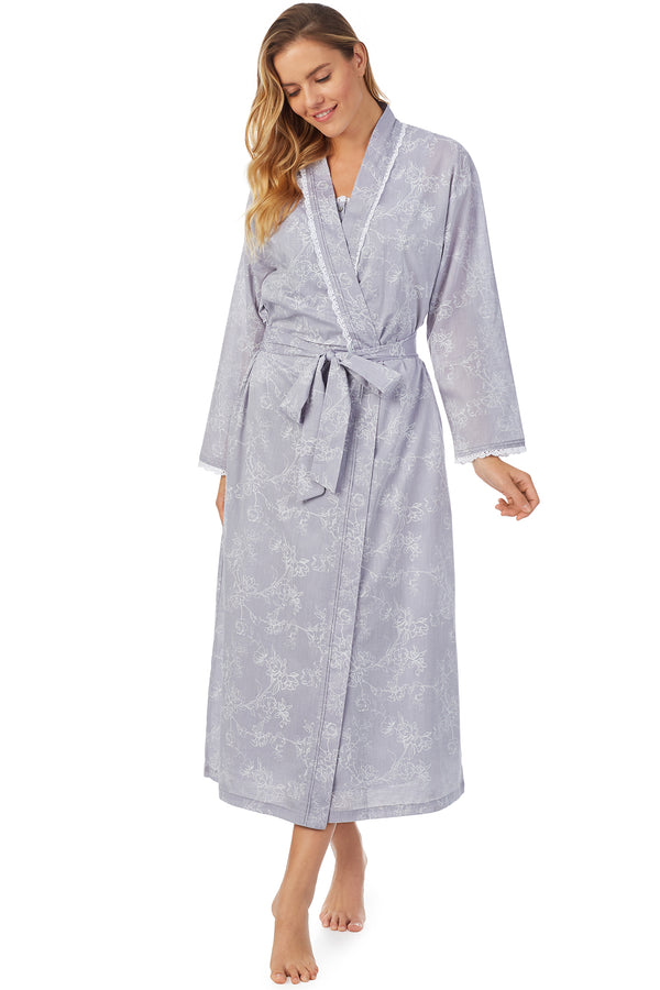 Chambray Dusk Ballet Wrap Robe