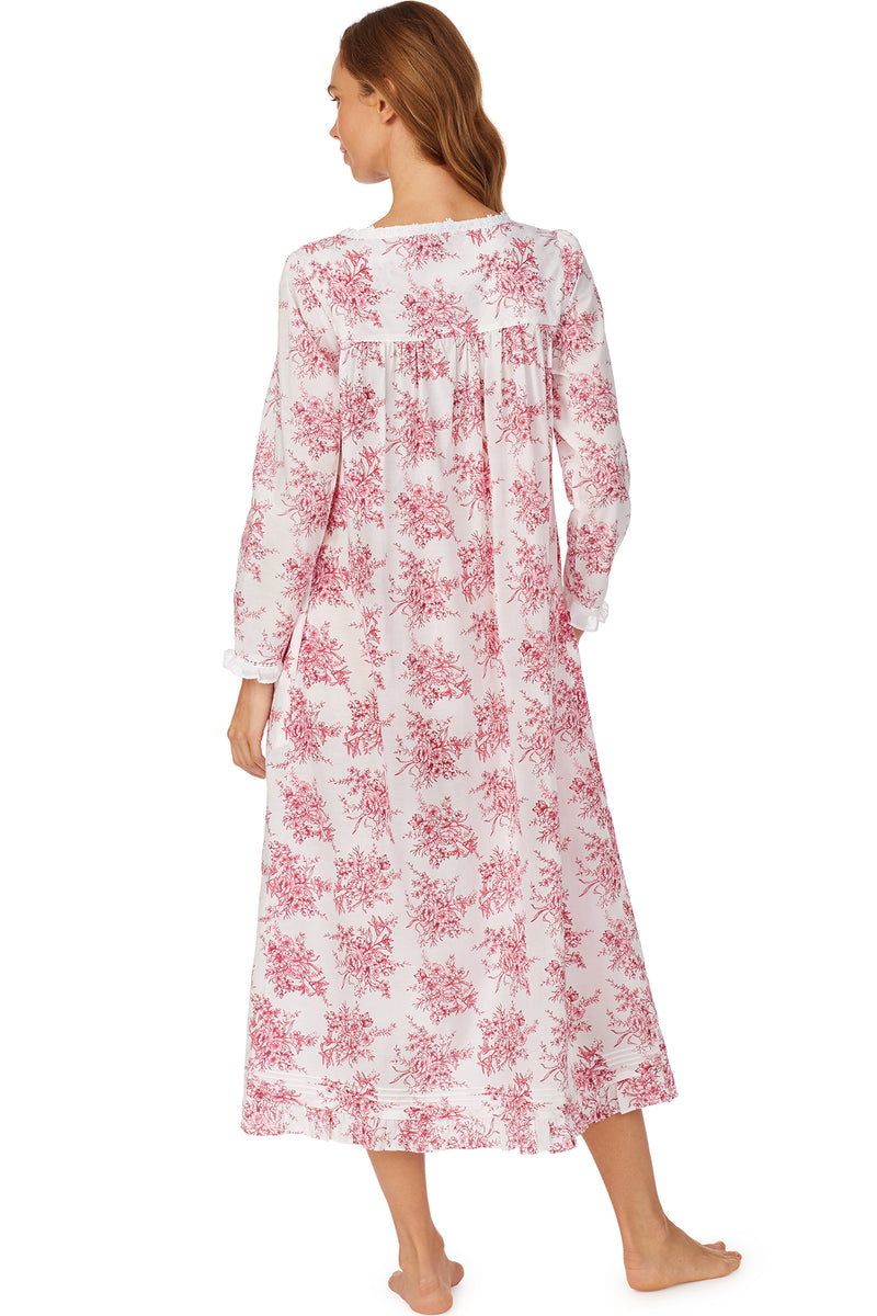 Berry Toile Long Sleeve Nightgown