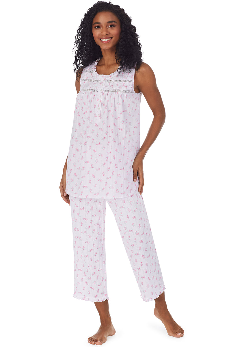 Sweetest Rose Smocking Capri Pajama