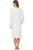 Lux White Embossed Zip Robe