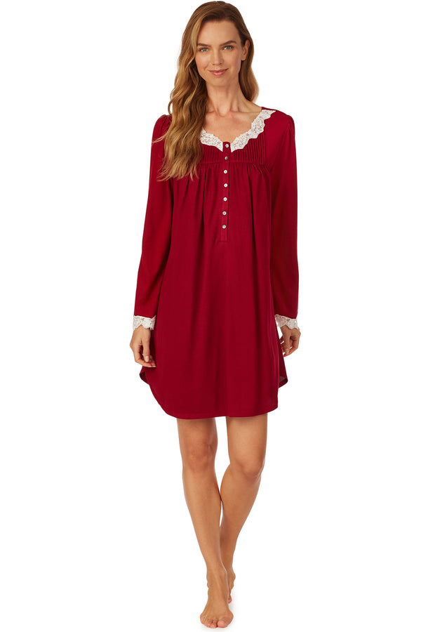Cozy Ruby Short Nightgown