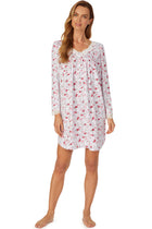Cozy Roses Short Long Sleeve Nightgown