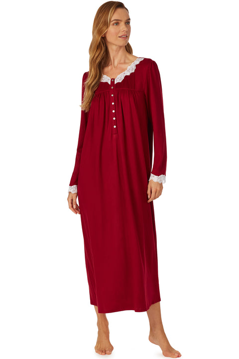 Cozy Ruby Ballet Nightgown