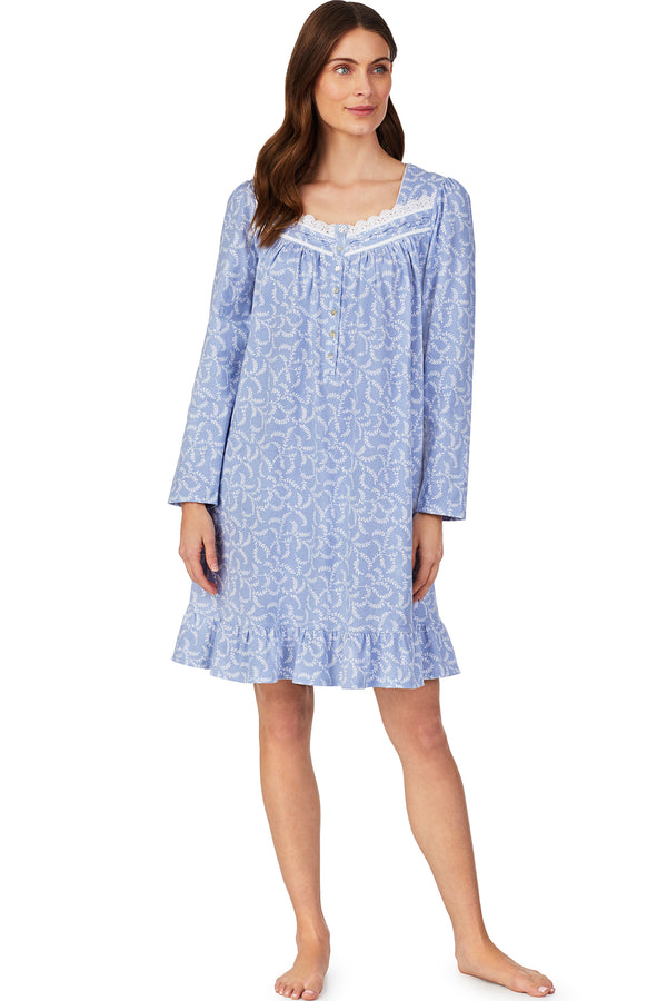 Calming Peri Short Nightgown- Plus