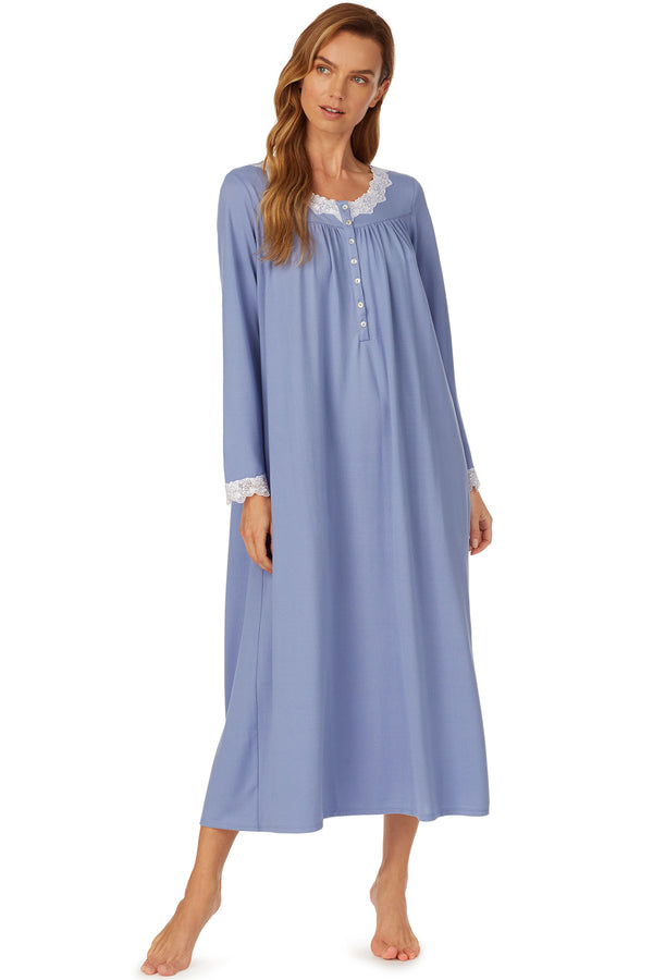 Cozy Blueberry Ballet Nightgown- Petite