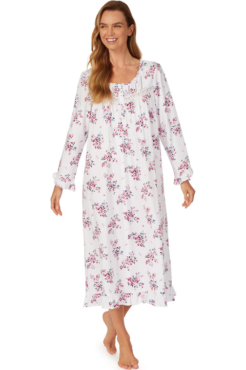 Plumberry Floral Waltz Long Sleeve Nightgown