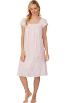 Cotton Bliss Pink Dobby Stripe Waltz Nightgown