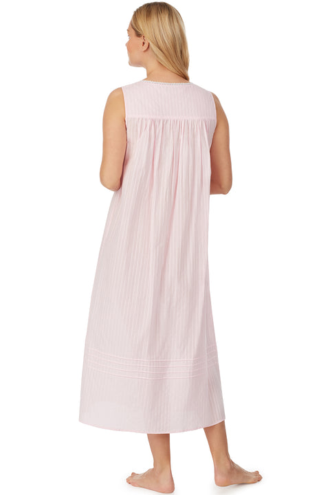 Cotton Bliss Pink Dobby Stripe Nightgown