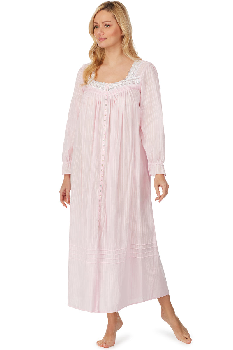 Cotton Bliss Pink Dobby Stripe Robe
