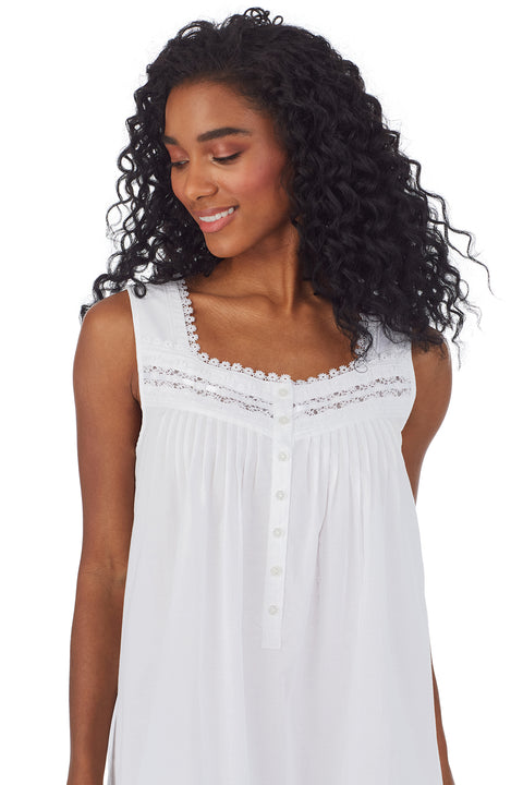 White Peony Short Nightgown