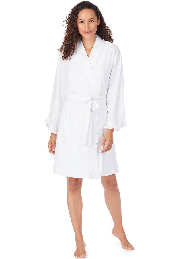 Organic Cotton Knit Wrap Robe