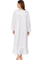 White Pearl Button Front Robe