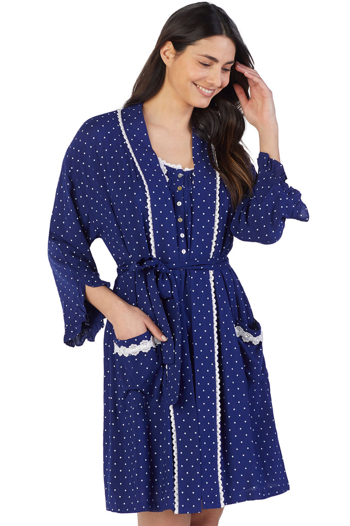 Pacific Dot Wrap Robe