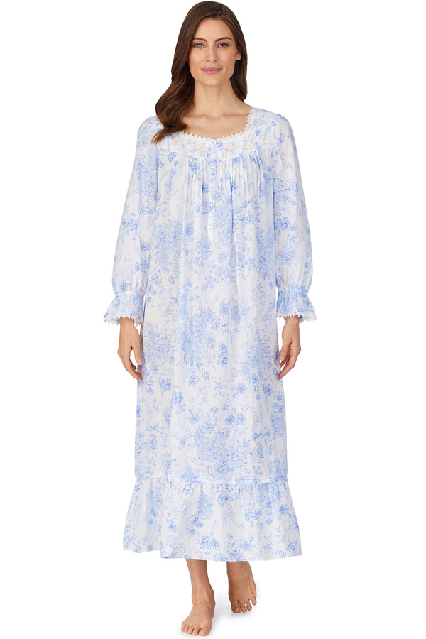 Blue Danube Long Sleeve Nightgown