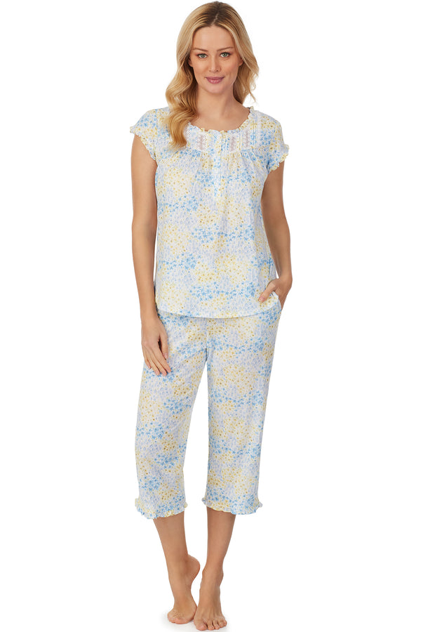 Cheerful Watercolor Capri Pajama