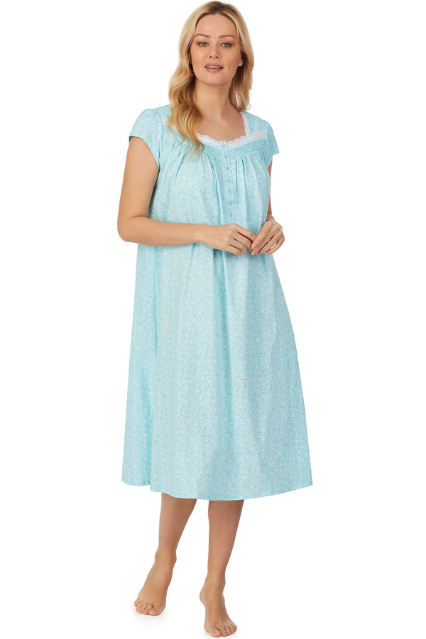 Aqua Wisp Long Nightgown