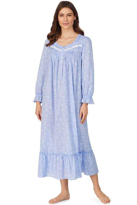 Etched Rose Chambray Nightgown